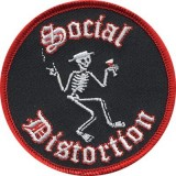 Нашивка Social Distortion Skelly Patch