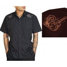 Рубашка Steady Clothing Guitar Skull Brown Shirt