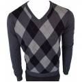 Свитер Warrior Clothing Argyle Style Pullover Black