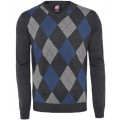 Свитер Warrior Clothing Argyle Style Pullover Navy